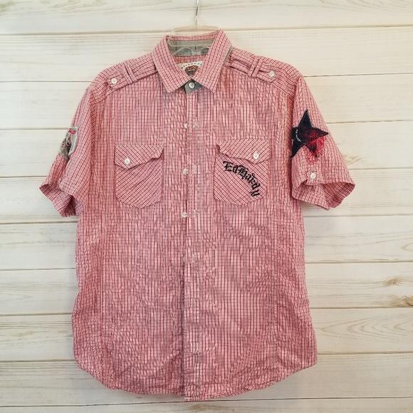 93e95812 Ed Hardy Shirts   Mens Button Down Short Sleeve Shirt   Poshmark